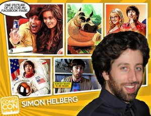 Simon Helberg of Big Bang Theory was announced as a celebrity guest of Salt Lake ComicCon 2014.