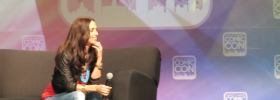 Eliza Dushku answering fans questions at Salt Lake Comic Con 2014